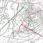 低気圧中心位置を描き写す方法